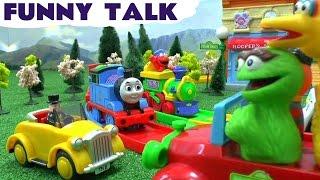 Funny Talking Thomas and friends Sesame Street ABC 123 Train Car Crash Accident Talking Kids Toys