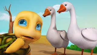 कछुआ और हंस The Tortoise and the Geese Moral Story | Hindi Stories for Kids | Infobells