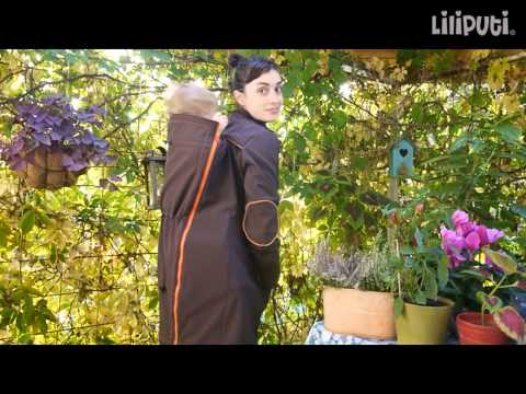 Liliputi® Babywearing Mama Coat - instructions for back carry
