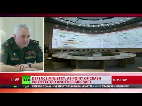The Russian Defense Ministry holds a press conference on the details of MH17 crash in eastern Ukraine. Defense Ministry reports that on the day of the catastrophe, a Ukrainian SU-25 fighter jet gaining height towards the Boeing 777. Calling for Kiev to explain why the fighter jet was tracking the airplane.  Time stamps:  BUK M1 surface to air missiles: http://youtu.be/4bNPInuSqfs?t=2m38s  Ukrainian SU25 fighter near MH17: http://youtu.be/4bNPInuSqfs?t=11m17s  Video of air traffic over Donetsk: http://youtu.be/4bNPInuSqfs?t=15m9s  Experimental US satellite over Ukraine during time of MH17: http://youtu.be/4bNPInuSqfs?t=22m41s  Issue with \'smoking gun\' video & car dealership address: http://youtu.be/4bNPInuSqfs?t=25m3s   RT LIVE http://rt.com/on-air  Subscribe to RT! http://www.youtube.com/subscription_center?add_user=RussiaToday  Like us on Facebook http://www.facebook.com/RTnews Follow us on Twitter http://twitter.com/RT_com Follow us on Instagram http://instagram.com/rt Follow us on Google+ http://plus.google.com/+RT  RT (Russia Today) is a global news network broadcasting from Moscow and Washington studios. RT is the first news channel to break the 1 billion YouTube views benchmark.