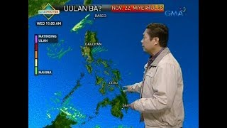 UB Weather update as of 612 a.m. November 22, 2017