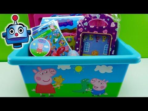Peppa Pig Caja con Juguetes y Huevos Sorpresa Peppa Pig Surprise Box - Juguetes de Peppa Pig
