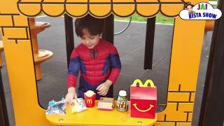 Spiderman in the McDonald's For Happy Meal | Jai Bista Show