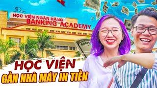 Vlog Mi Sơn : Bạn có biết trường gần nhà máy in tiền VN | Review Học Viện Ngân Hàng !