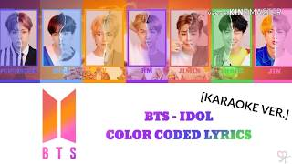 Bts 방탄소년단 Idol Karaoke Ver Color Coded Kpop