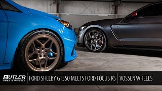 Ford Mustang Shelby GT350 meets Ford Focus RS | Vossen Forged Wheels | Butler Tire