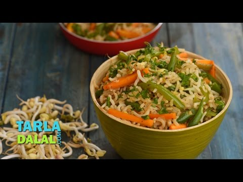 Bean Sprouts Fried Rice (Fibre rich recipe) by Tarla Dalal
