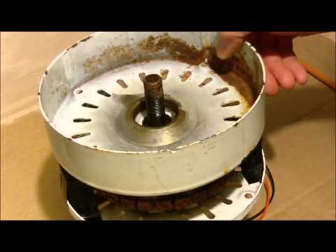 Ceiling Fan to Wind generator conversion demo