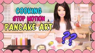 [Stop motion] Barbie doll Cooking [Ep.4] - Pancake Art
