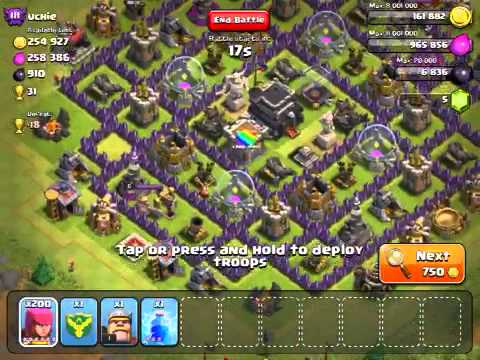 Clash of clans - New graphical glitch + 2100 Trophies!:)