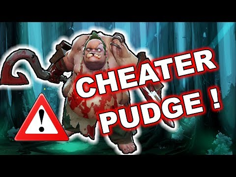 Dota 2 Cheater - PUDGE with AUTO HOOK!