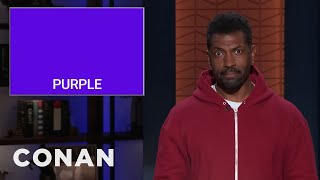 Deon Cole On Safe Colors To Paint Your Face This Halloween - CONAN on TBS