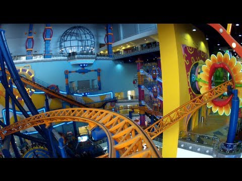 Supersonic Odyssey Roller Coaster POV Times Square Theme Park Malaysia (Cosmo's World) HD