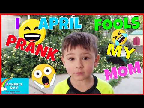ASHER Pranks His Momma! April Fools Asher's Day