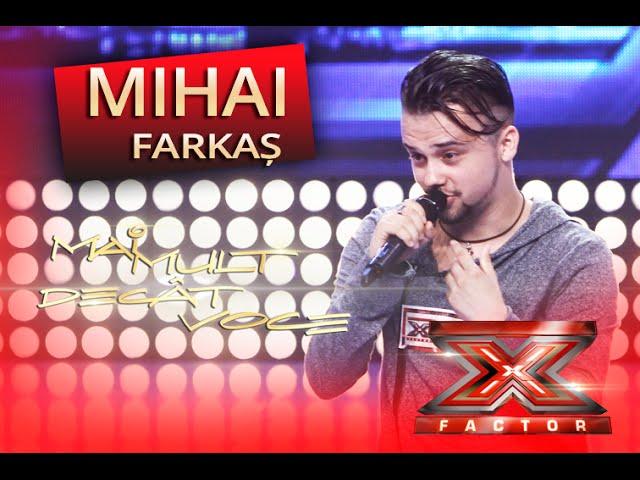 """""""What a wonderful world"""" - Louis Armstrong. Vezi interpretarea lui Mihai Farkaș, la X Factor!"""