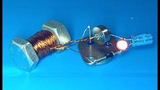 Boost converter , Step up generator using screw as transformer , amazing idea