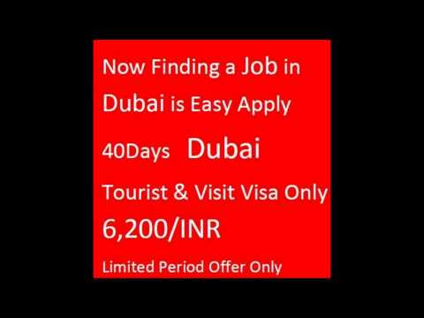 Dubai 30/40/60/90 Days Visit Visa in Hyderabad