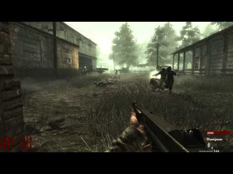 Call Of Duty World At War : Nazi Zombie Farm Swamp (Gameplay)