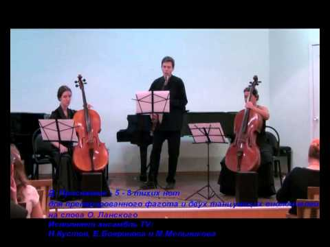 Д. Присяжнюк - 5-8тихих нот для препарированного фагота и двух танцующих виолончелей