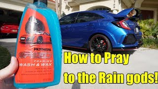 Mothers Speed Foaming Wash and Wax Review. 2019 Honda Civic Type R.