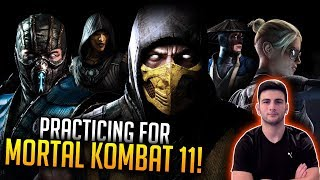 🔴 Practicing For Mortal Kombat 11 // Learning to Become a GOD // Mortal Kombat X Gameplay!