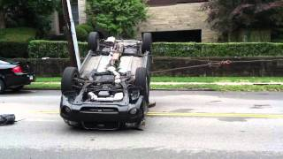 Subaru Forester flipped over