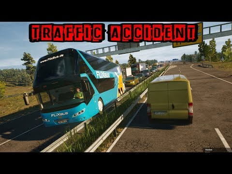 TRAFFIC ACCIDENT | FERNBUS SIMULATOR | LOGITECH G29 | JUST DRIVE