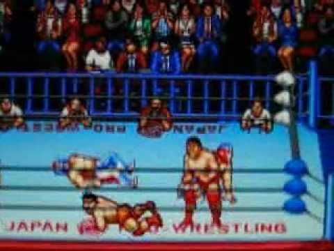 Zen-Nippon Pro Wrestling 2: 3-4 Budokan (BEST Wrestling Game on SNES/SFC!) FATAL FOUR WAY MATCH!