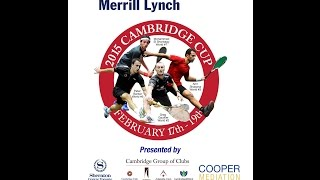 2015 02 19 - The Cambridge Cup - Finals - Mohamed El Shorbagy vs Grégory Gaultier