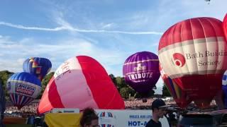 Hot Air Balloons Taking Off At The Bristol International Balloon Fiesta, 13 August 2016