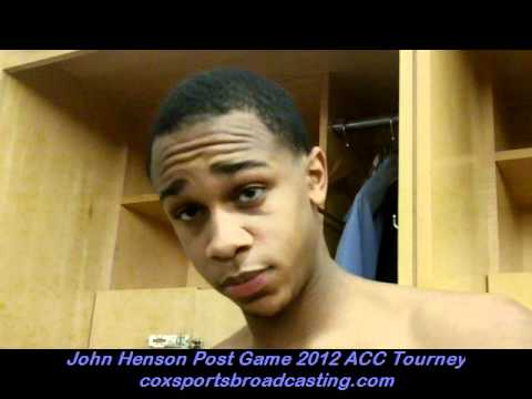 John Henson Post Game 2012 ACC Tournament.wmv