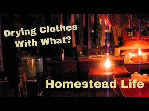 Homestead life:Wood cookstove clothes drying
