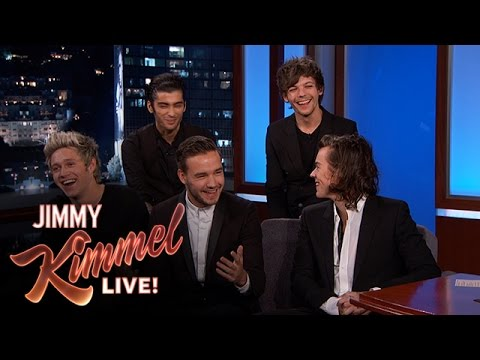 """Jimmy Kimmel Asks One Direction """"Who is Most Likely To...?"""""""