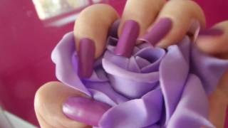 Elegant purple long nails by leyanore (video 1)