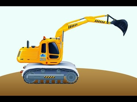 Обзоры мобильных игр - Экскаватор - рабочие машины в песочнице