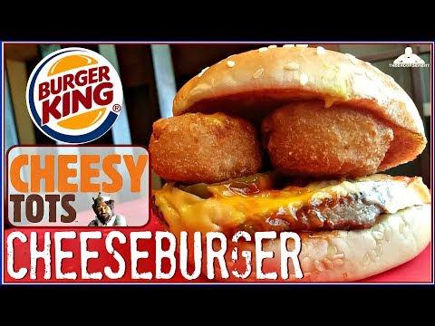 BURGER KING® CHEESY TOTS CHEESEBURGER REVIEW! 🧀🥔🍔 thumbnail