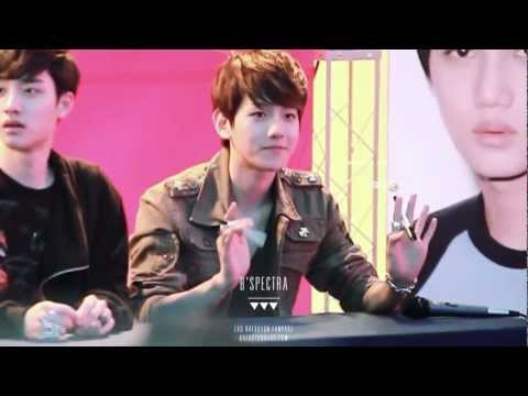 120430 EXO-K fansign Cute Baekhyun fancam [full ver]