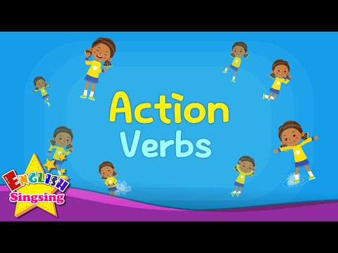 Kids vocabulary - Action Verbs - Action Words - Learn English for kids - English educational video MP3