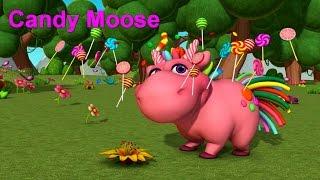 Английский язык для малышей - Мяу-Мяу -  Candy Moose! (Карамельный лось) - учим английские слова