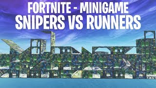SNIPER vs RUNNERS MINI-GAME!  - Fortnite: Battle Royale Playground (Nederlands)