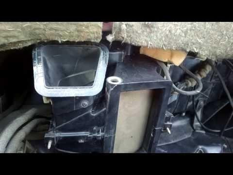 Работа заслонок печки VW Passat B3
