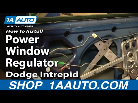 How To Install Repair Replace Rear Power Window Regulator Dodge Intrepid 98-04 1