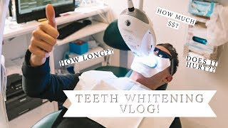 TEETH WHITENING! Phillips ZOOM teeth whitening inside look and how much it costs!