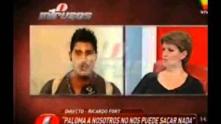 Ricardo Fort y Paloma Fort en Intrusos