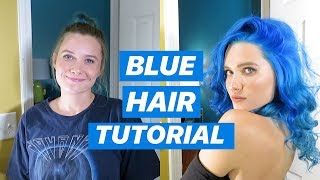 I DYED MY HAIR BLUE!!! (here's a tutorial plus a Q&A!)