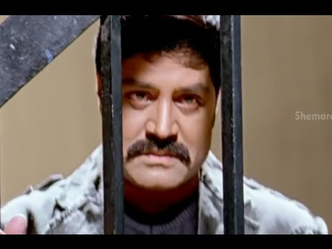 Badradri Full Movie Scenes - Srihari Goes To Jail & Surrenders Himself To Police - Nikitha, Raja video