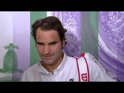 Roger Federer post-match interview - Wimbledon 2014