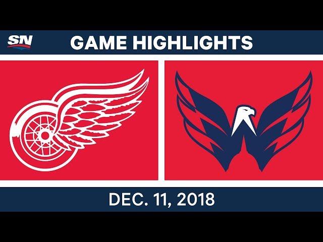 NHL Highlights  Red Wings vs. Capitals - Dec 11, 2018