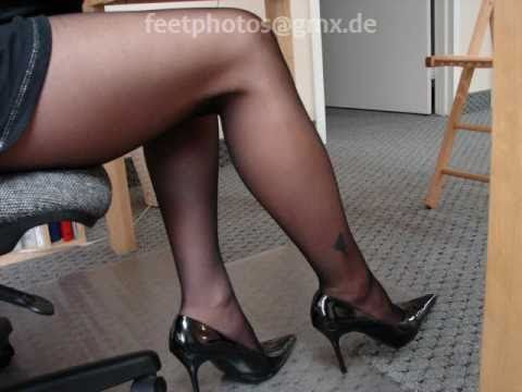 Nylons, Fishnets and High Heels - Women Showing Legs and Feet