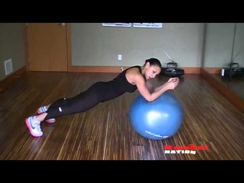 Strength & Conditioning; Swiss ball plank rolls video by Alicia Bell